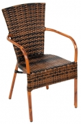 Faux Rattan Aluminum Chair